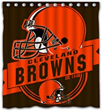 Felikey Custom Cleveland Browns Waterproof Shower Curtain Colorful Bathroom Decor Size 66x72 Inches