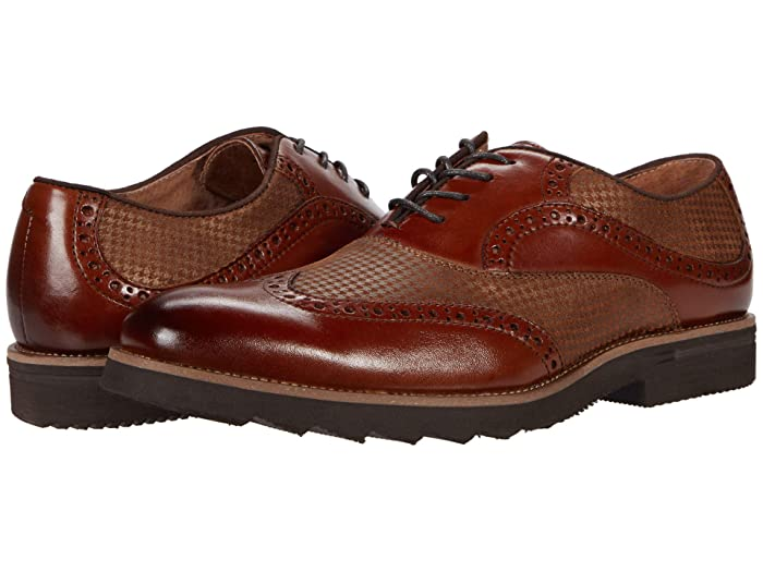 1950s Men's Shoes | Boots, Greaser, Rockabilly Stacy Adams Callan Wing Tip Oxford Cognac Mens Shoes $114.95 AT vintagedancer.com