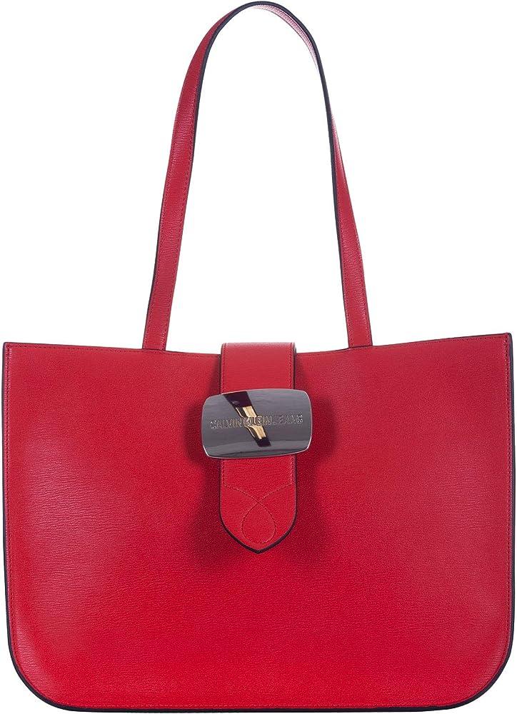 Calvin klein - dallas buckle tote borsa a mano/spalla da donna in pelle sintetica K60K605529