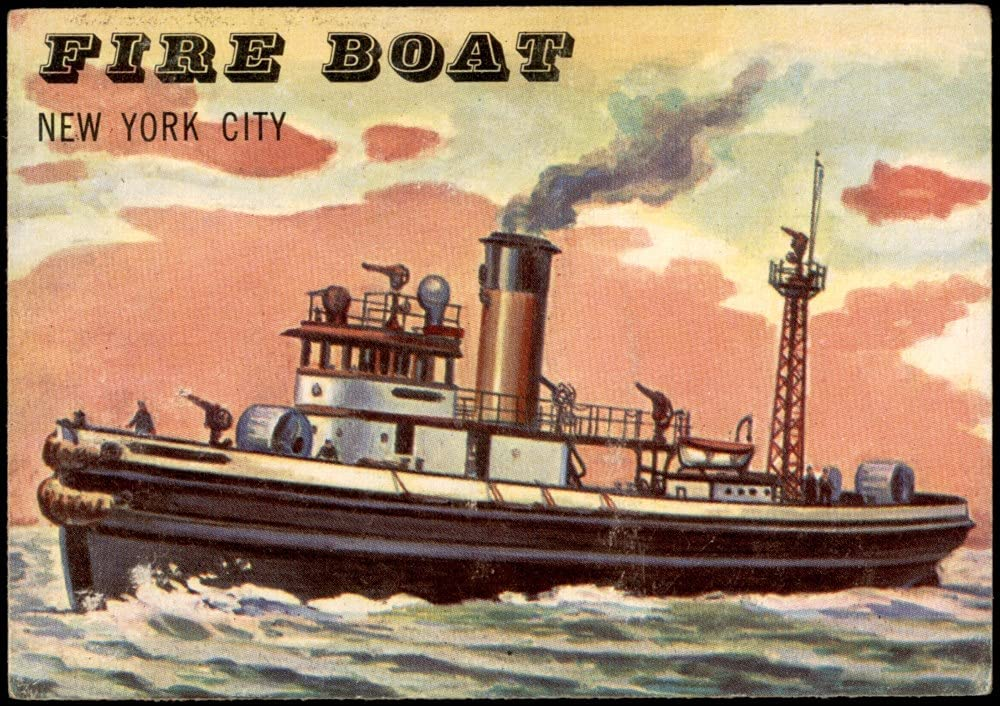 1955 Topps # 187 Fire VG EX Boat Card At the Special price price of surprise