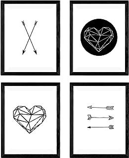 Nacnic Set de 4 láminas para enmarcar de Formas geométricas. Producto de diseño. (A4)