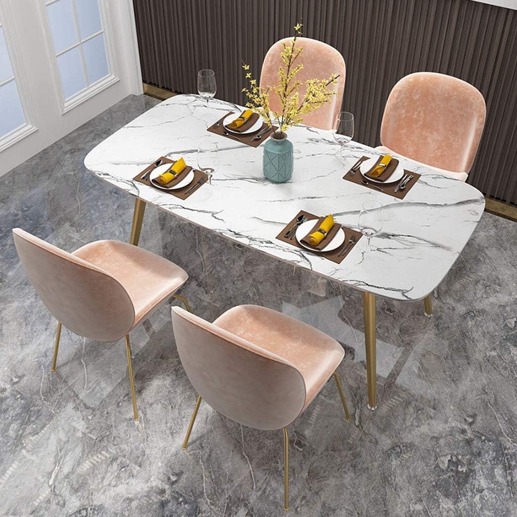 Cuisine Salle À Manger Chaise Comptoir Salon Salon Chaise d'angle Coussin en Velours Et Chaise Arrière avec Pieds en Métal sans Accoudoirs Light Brown