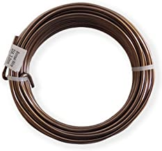Anodized Aluminum 4.0mm Bonsai Training Wire 250g Large Roll (23 feet) - Choose Your Size Color (4.0mm, Brown)