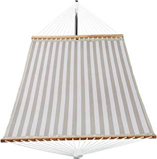 PATIO WATCHER Hammock 14 FT Quick Dry Hammock Double Size Spreader Bar Outdoor Patio Yard Poolside Hammock with Chains, 2 ...