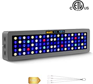MarsAqua Dimmable 165W 300W LED Aquarium Light Coral Reef Light Full Spectrum for Fish Freshwater and Saltwater Coral Tank Blue and White LPS/SPS