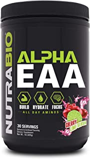 NutraBio Alpha EAA (Cherry Limeade) – All-Day Recovery, Focus, and Hydration Supplement