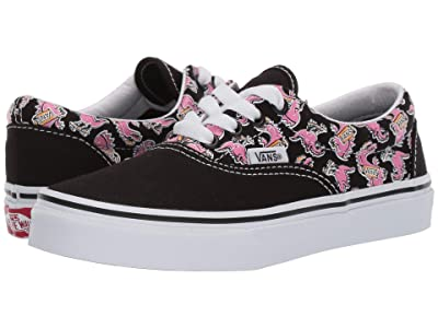 Vans Kids Era (Little Kid/Big Kid) ((Vanosaur) Black/True White) Boys Shoes