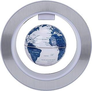 Flytande glob med färgglada LED-lampor magnetisk svämbana roterande glob flytande glob världskarta hem kontor skrivbordsde...