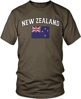 Amdesco Men's Flag of New Zealand, New Zealander Flag T-Shirt