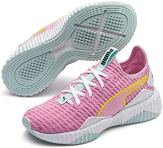 PUMA Kids DEFY JR Sneaker, Pale Pink White-fair Aqua