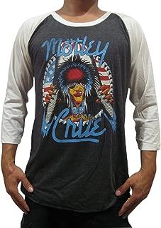 BUNNY BRAND Men's Motley Crue Girls Girls Girls'87 Music Raglan T-Shirt