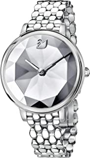 Crystal Lake Watch, Metal Bracelet, White, Silver Tone 5416017