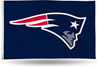 NFL Rico Industries 3-Foot by 5-Foot Single Sided Banner Flag with Grommets, New England Patriots