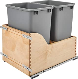 Amazon Com Wood Kitchen Trash Cans Trash Recycling Compost