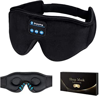 Auriculares para dormir, máscara de sueño 3D, Bluetooth 5.0 Wireless Music Eye Mask, LC-dolida Auriculares para dormir de ...