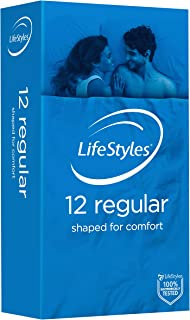 LifeStyles Regular Condom 12 Pack, 12 count