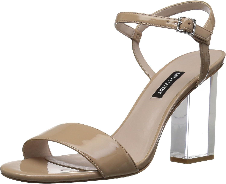 Nine West Womens Fiesty Synthetic Heeled Sandal