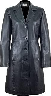 Best ladies long leather coat Reviews