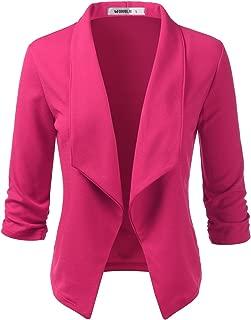 Women's Cardigan Lightweight 3/4 Sleeve Open Front Office Blazer