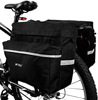 Double Panniers Bag Bike Bicycle Cycling Rear Seat Trunk Rack Pack Waterproof UK