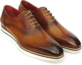 Paul Parkman Smart Casual Men's Brown Oxfords (ID#184SNK-BRW)