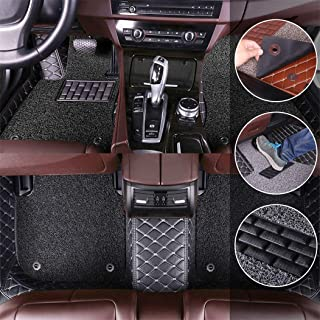 Custom Car Floor Mats for Toyota Camry XV50 2012-2017 Full Surrounded Protection Luxury Leather Material Wear Resistant Car mat Carpet Liners Black and Black