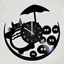 STUDIO GHIBLI VINYL RECORD WALL CLOCK - Nice gift for girl & boy or fan anime - Japanese animation film GHIBLI STUDIO №1 - merchandise gifts for kids bedroom decoraion