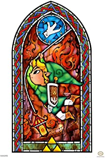 Pyramid America Legend of Zelda Stained Glass Grappling Hook Video Game Gaming Laminated Dry Erase Sign Poster 12x18