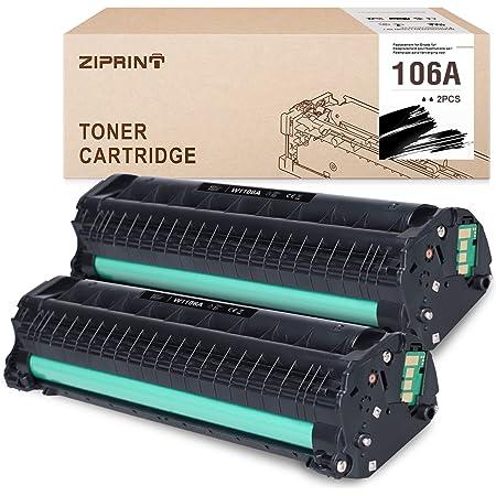 ZIPRINT (con chip) compatibile Toner HP 106A W1106A con HP Laser MFP 135a MFP 135w MFP 135r MFP 137fnw HP Laser MFP 107a 107w 107r (2 nero)