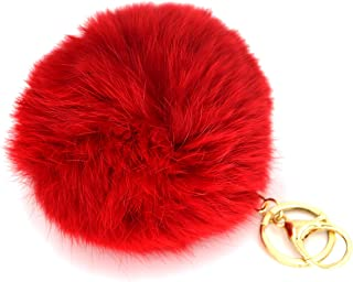 Best red fur ball keychain Reviews