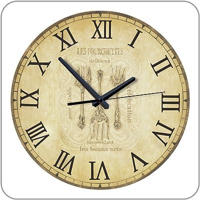 12 Inch Kitchen Wall Clock with Mute 12888 Clock Movement Design Wall Kitchen Clock Watch Vintage
