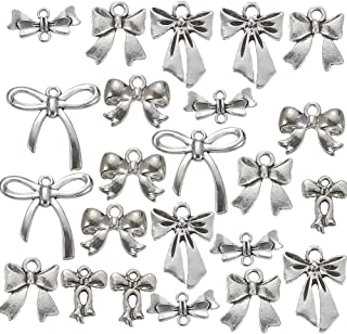 108g Mixed Style Antique Silver Plated Bow Tie Charms Pendant Bracelets Necklace Jewelry Findings Jewelry Making Craft DIY (a-1166)