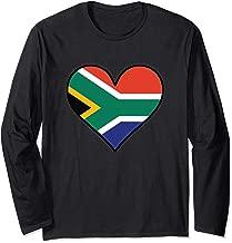 South African Flag Heart Cute South Africa Long Sleeve T-Shirt