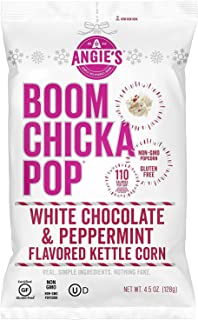 Angies Boomchickapop Holiday Limited Chocolaty Drizzled Kettle Popcorn 4.5oz (White Chocolate & Peppermint)