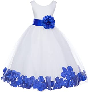 7588969c45b ekidsbridal White Floral Rose Petals Flower Girl Dress Birthday Girl Dress  Junior Flower Girl Dresses 302s