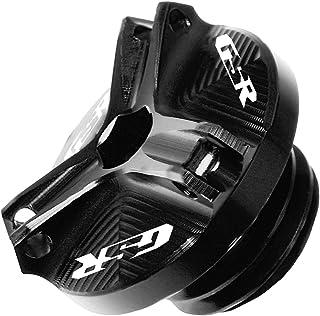 Für Suzuki GSR 400 600 750 GSR400 GSR600 GSR750 Motorradzubehör Motor Ölablassschraube Sump Nut Cup Cover Ölfüllkappe (Color : Black)