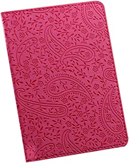 Luxurious Travel Passport Holder Cover ID Card Ticket Organizer Case,Colour:Red (Color : Red)