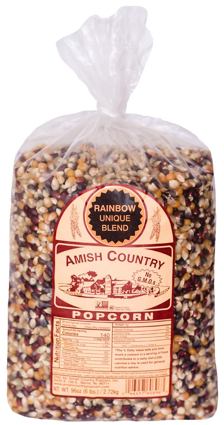 Amish Country Popcorn Houston Very popular! Mall 6 lb Old Bag Rainbow Kernels