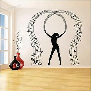 WYLYSD Notes D'Amant De Musique Danse Musicien Stickers Muraux Musique Décoration Murale Pour La Décoration De La Maison A...