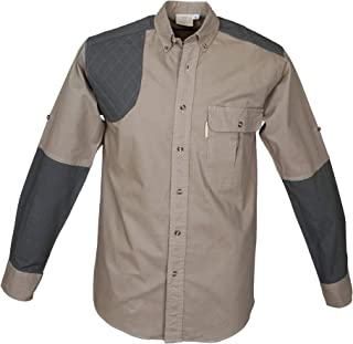 Upland Shirt for Men Long Sleeve 100% Cotton Shirt for Hunters Outdoor Activities