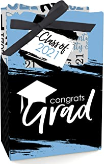 Big Dot of Happiness Light Blue Grad - Best is Yet to Come - Light Blue 2021 Graduation Party Favor Boxes - Set of 12