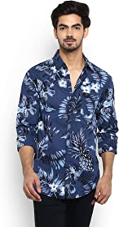 Mufti Slim Fit Floral Full Sleeve Shirt