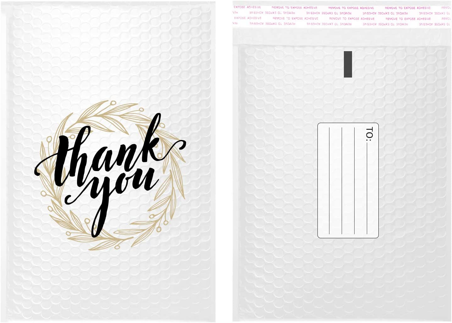 PACKAPRO #0 7x10 Inch Max 74% OFF Thank you- Bubble White S Self Max 88% OFF Poly Mailer