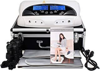 Ionic Ion Detox Machine Foot Bath Cell Cleanse Negative Hydrogen System for Dual Users by Healcity with Far Belts & Colored LCD