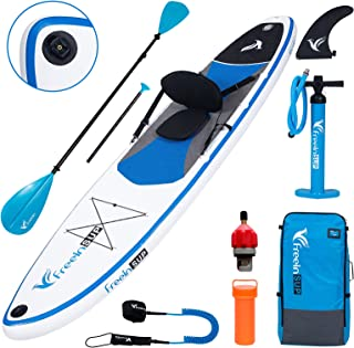 """Freein Stand Up Paddle Board Kayak SUP Inflatable Stand up Paddle Board SUP 10'/10'6""""x31 x6, 2 Blades Paddle, Dual Action ..."""