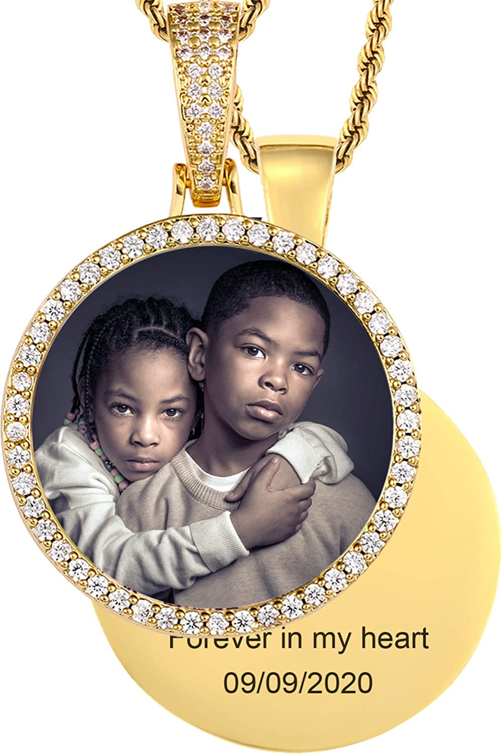 TUHE Hip Hop Jewelry Custom Necklace 18K Picture Go New products world's highest quality Sale special price popular Personalized