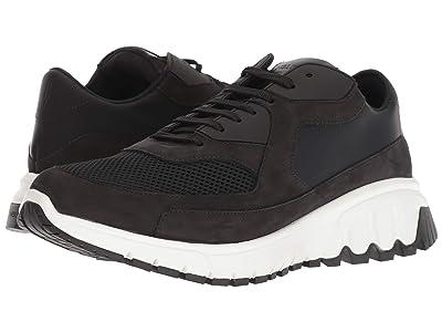 Neil Barrett Nubuck/Mesh Urban Runner Sneaker (Black/White) Men