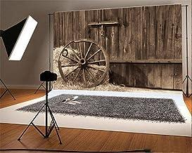 YongFoto 3x2m Fondos Fotograficos El Coche del Vintage Paja del Granero Straw Bale el Interior Madera del otoño del Grunge del tablón Grunge Fondos para Fotografia Fiesta Boda Estudio Fotográfico
