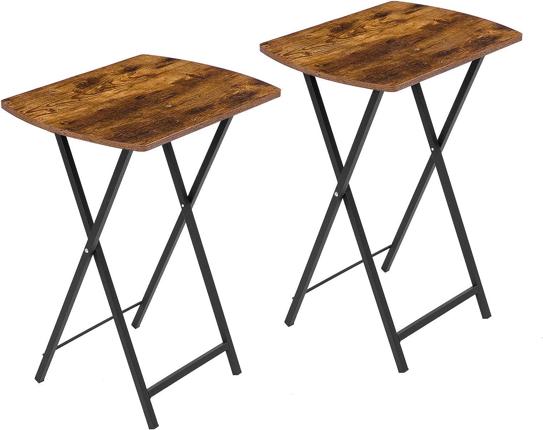 Max 44% OFF HOOBRO Folding Table TV Trays Set Max 64% OFF Foldable of Tab Tray 2 Snack