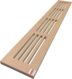 MDF Vent Cover Total Size 6 Inches Depth x 30 Inches Width, 3/4